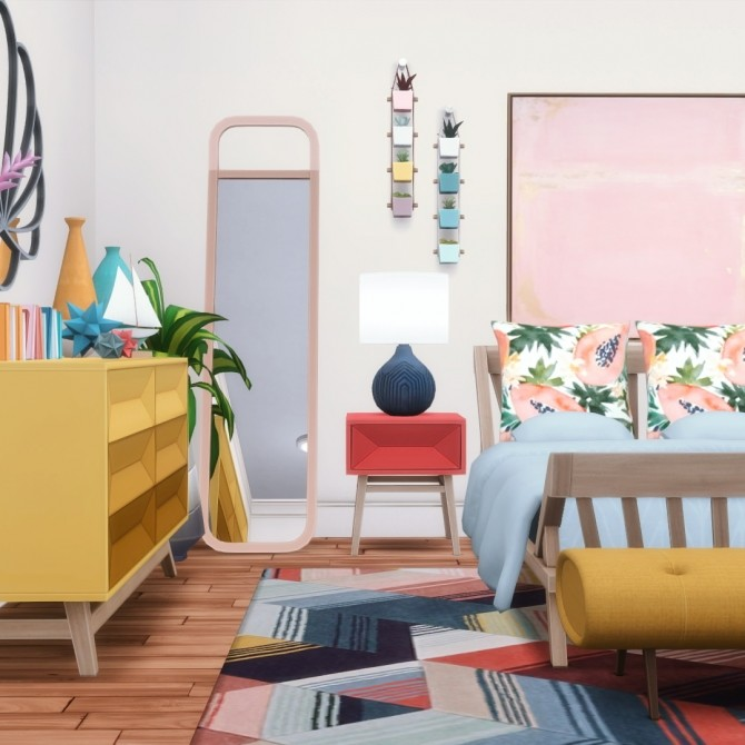 Sims 4 Coba Collection Bedroom Set 14 Items at Simsational Designs