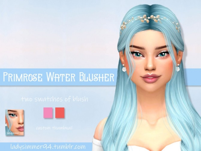 Sims 4 Primrose Water Blusher by LadySimmer94 at TSR