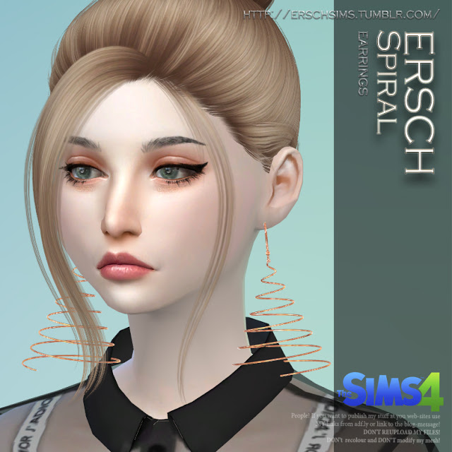 Spiral Earrings at ErSch Sims image 217 Sims 4 Updates