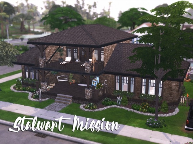 Stalwart Mission style home by xogerardine at TSR image 2180 670x503 Sims 4 Updates