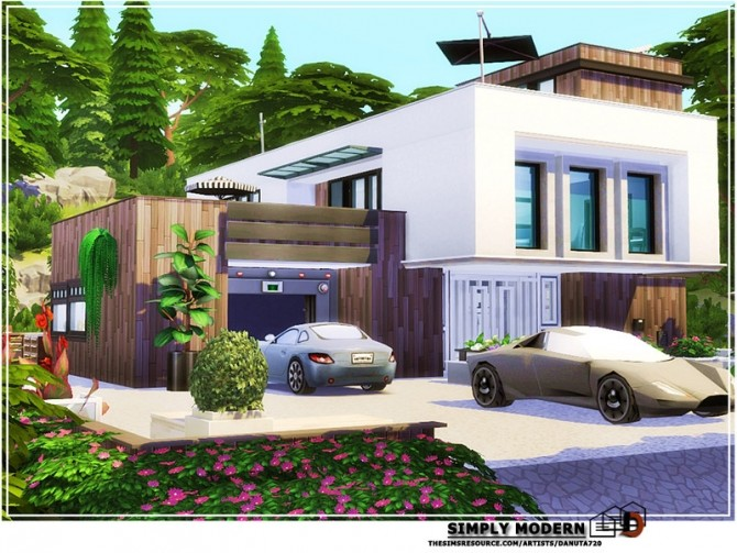 Simply modern house by Danuta720 at TSR image 221 670x503 Sims 4 Updates