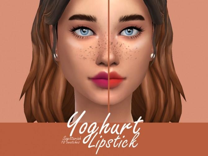 Sims 4 Yoghurt Lipstick by Sagittariah at TSR
