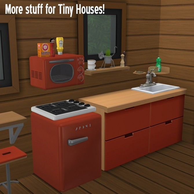 Sims 4 Kitchenette for Tiny Houses at Around the Sims 4
