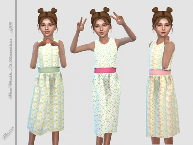 Childs Spring Dress 2 by pizazz at TSR image 2224 670x503 Sims 4 Updates