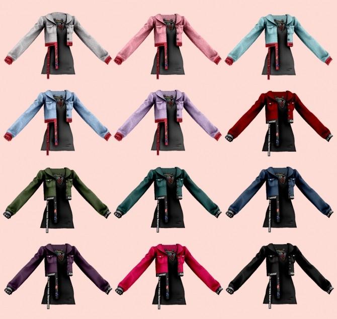 Sims 4 Short jacket & sleeveless dress at RIMINGs