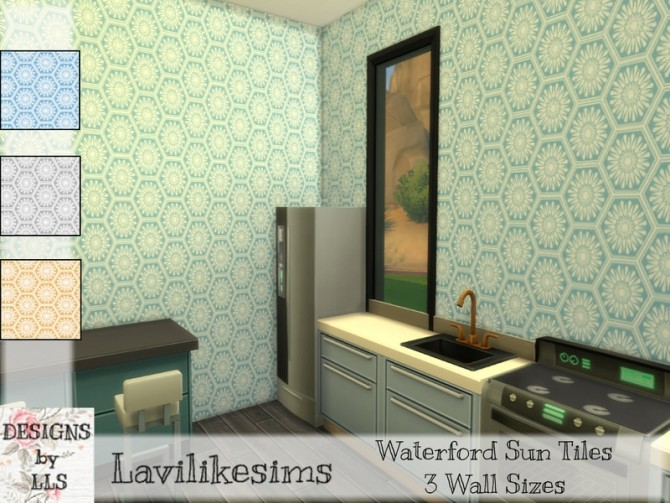 Sims 4 Waterford Sun Tiles by lavilikesims at TSR