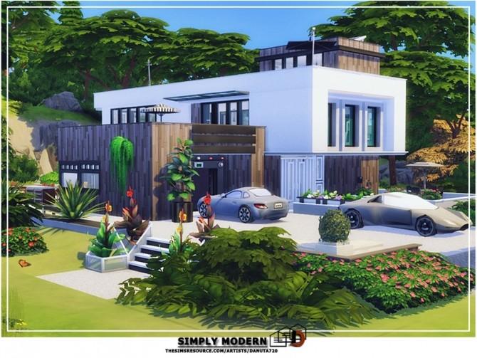 Sims 4 Simply modern house by Danuta720 at TSR
