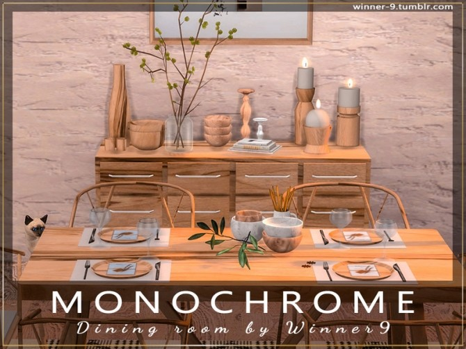 Monochrome Dining Room by Winner9 at TSR image 2315 670x503 Sims 4 Updates