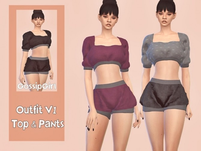 Outfit V1 Top & Pants by GossipGirl at TSR image 2318 670x503 Sims 4 Updates