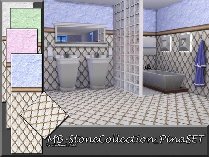 Sims 4 MB Stone Collection Pina SET by matomibotaki at TSR