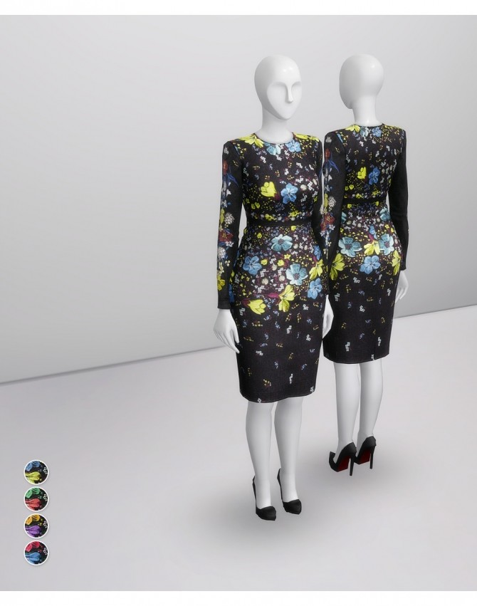 Evita Lilly Collage Dress at Rusty Nail image 238 670x851 Sims 4 Updates