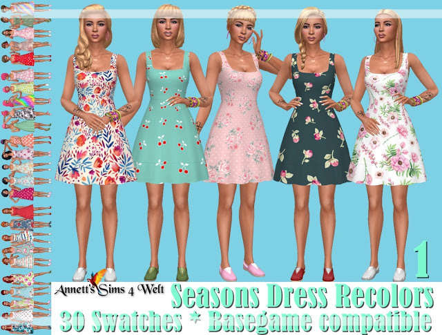 Seasons Dress Recolors at Annett's Sims 4 Welt image 2395 Sims 4 Updates