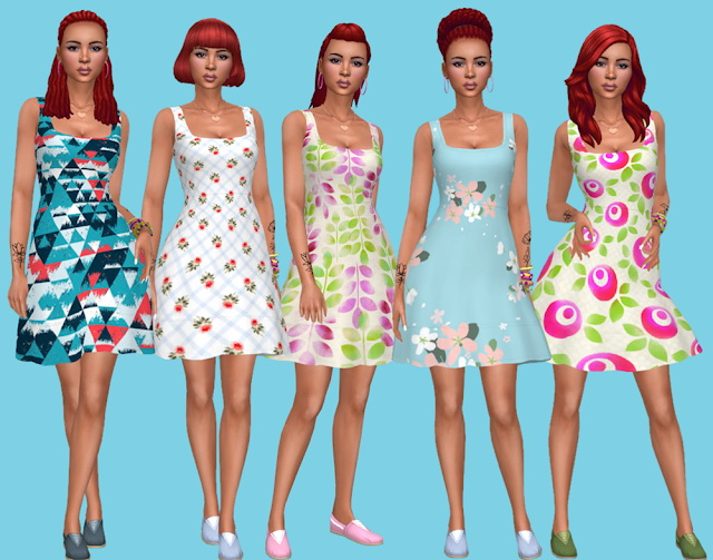 Seasons Dress Recolors at Annett's Sims 4 Welt image 2405 Sims 4 Updates
