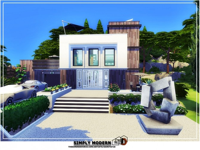 Simply modern house by Danuta720 at TSR image 241 670x503 Sims 4 Updates