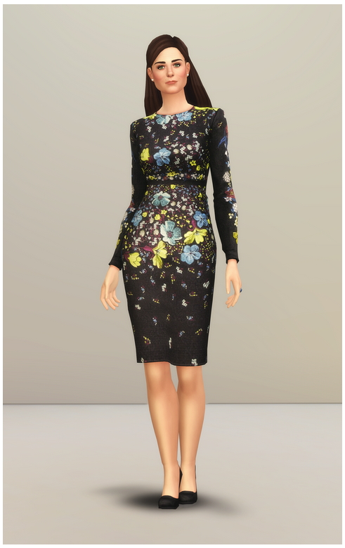 Evita Lilly Collage Dress at Rusty Nail image 2411 Sims 4 Updates