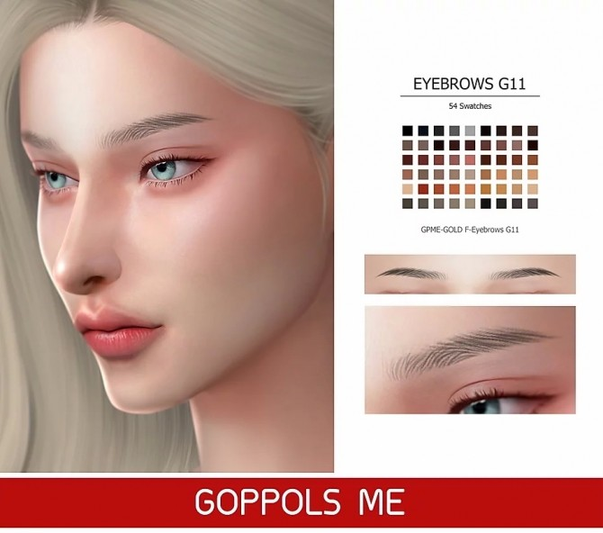 GPME GOLD F Eyebrows G11 at GOPPOLS Me image 24110 670x592 Sims 4 Updates