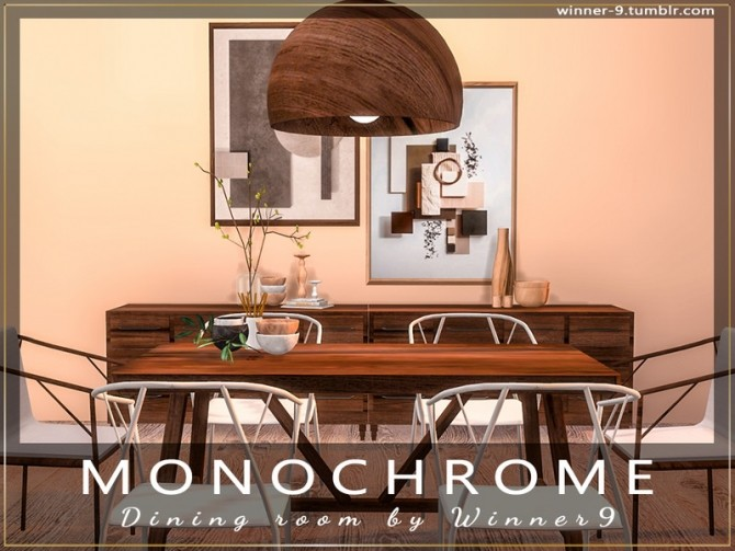 Monochrome Dining Room by Winner9 at TSR image 2415 670x503 Sims 4 Updates
