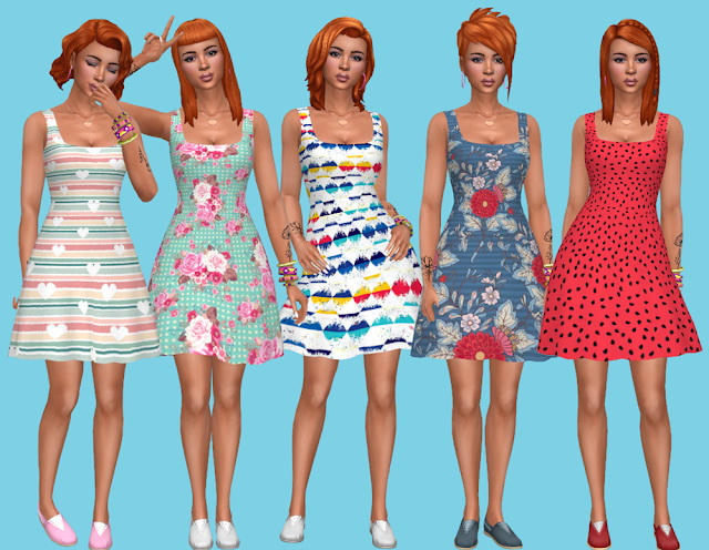 Seasons Dress Recolors at Annett's Sims 4 Welt image 2429 Sims 4 Updates