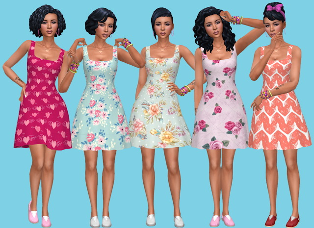 Seasons Dress Recolors at Annett's Sims 4 Welt image 2434 Sims 4 Updates