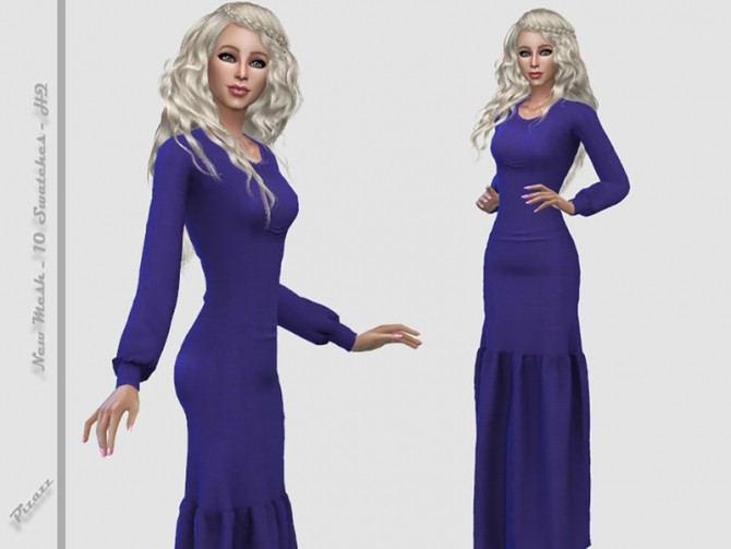 Long Gown 003 by pizazz at TSR image 2436 670x503 Sims 4 Updates