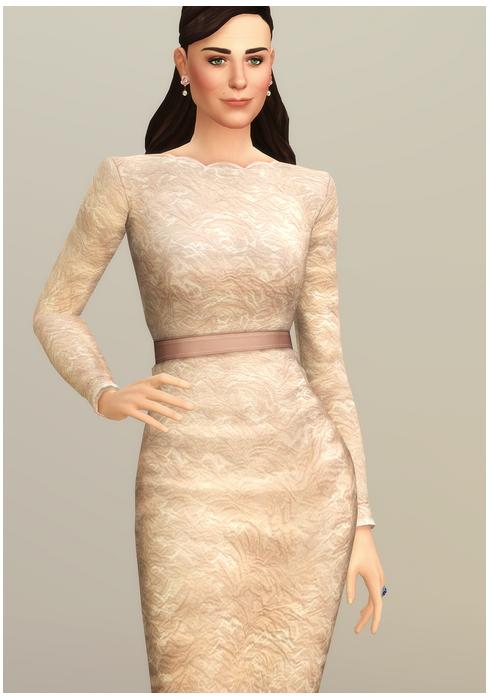 Champagne Lace Dress at Rusty Nail image 2441 Sims 4 Updates