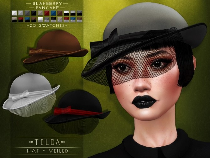 Tilda hat at Blahberry Pancake image 2443 670x503 Sims 4 Updates