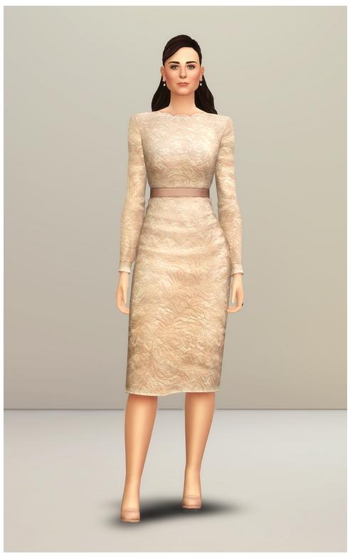 Champagne Lace Dress at Rusty Nail image 245 Sims 4 Updates
