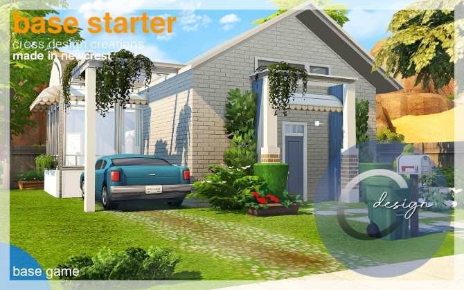 Base Starter House by Praline at Cross Design image 2463 670x419 Sims 4 Updates