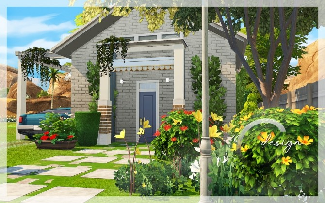 Base Starter House by Praline at Cross Design image 2473 670x419 Sims 4 Updates