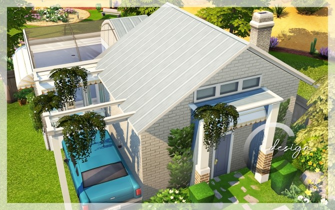 Base Starter House by Praline at Cross Design image 2483 670x419 Sims 4 Updates