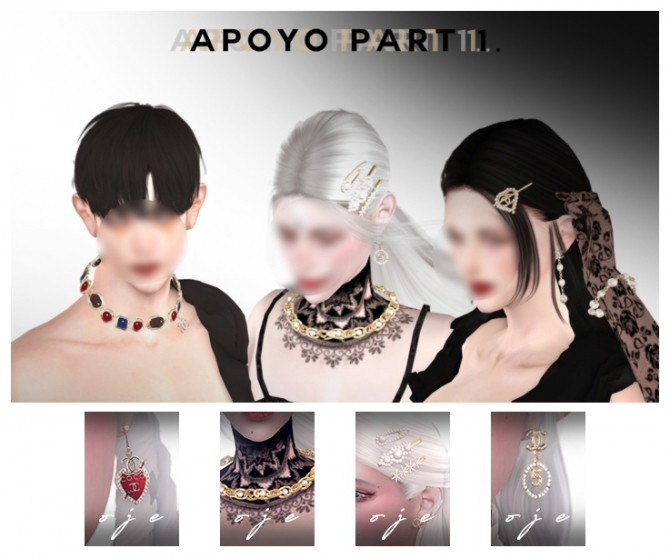 Apoyo jewellery set part 1 at OJE image 2504 670x558 Sims 4 Updates