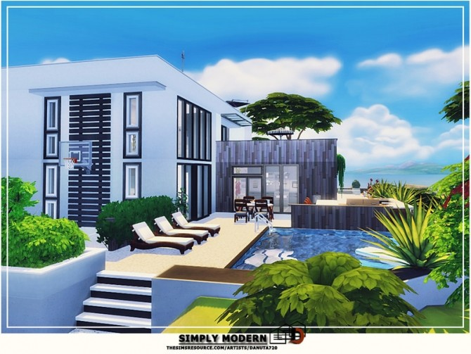 Simply modern house by Danuta720 at TSR image 251 670x503 Sims 4 Updates