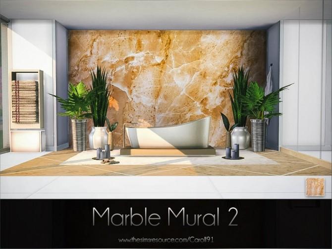 Sims 4 Marble Mural 2 by Caroll91 at TSR