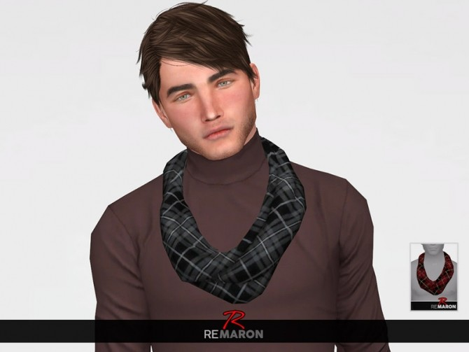 Sims 4 Scarf 01 for Men by remaron at TSR