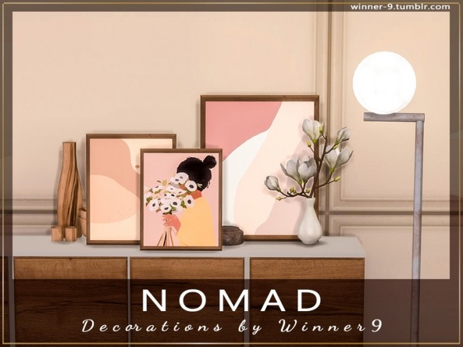 Sims 4 Nomad Decorations by Winner9 at TSR