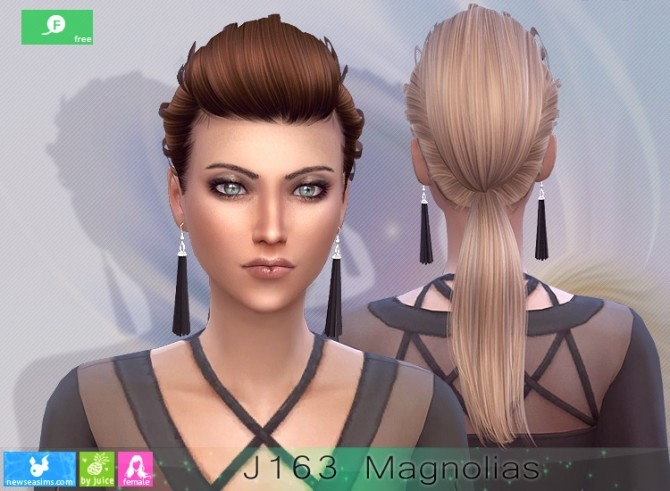 J163 Magnolias hairstyle at Newsea Sims 4 image 2554 670x491 Sims 4 Updates
