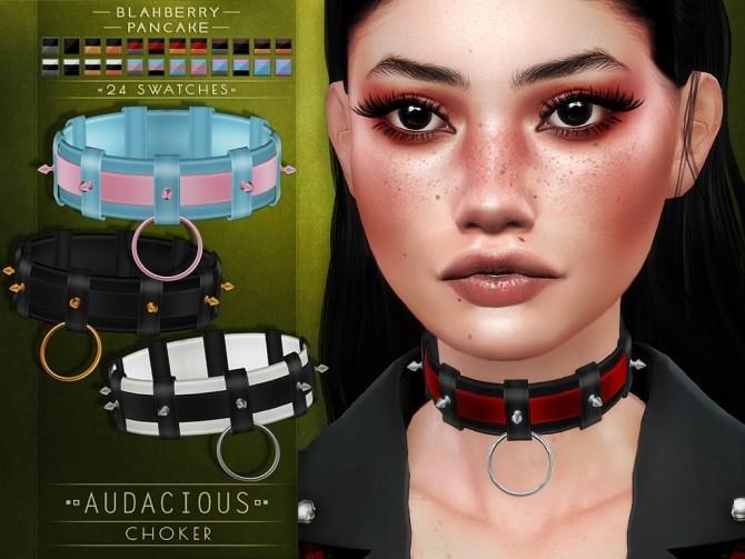 Audacious choker at Blahberry Pancake image 2561 670x503 Sims 4 Updates