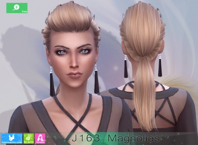 J163 Magnolias hairstyle at Newsea Sims 4 image 2563 670x491 Sims 4 Updates