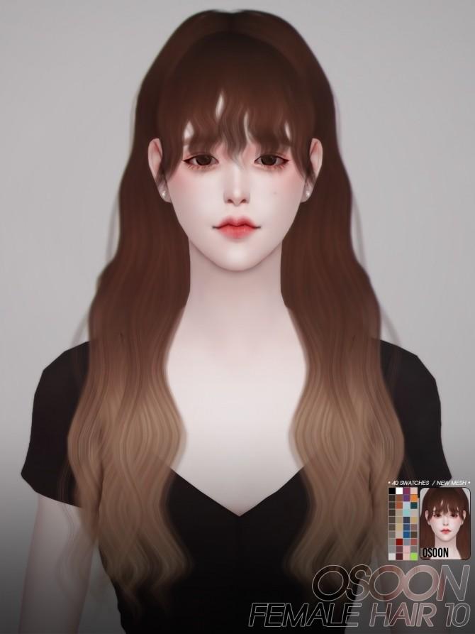 Sims 4 Female Hair 10 at Osoon