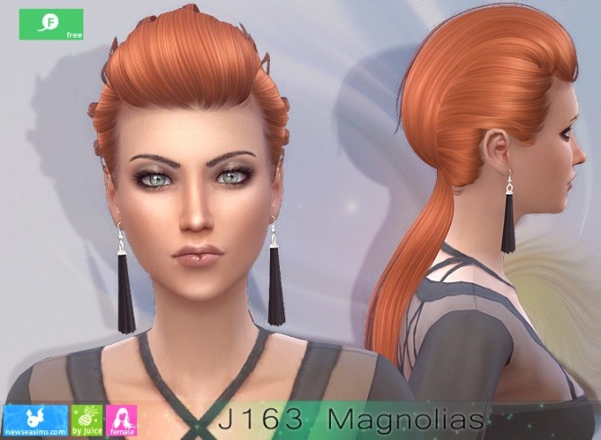J163 Magnolias hairstyle at Newsea Sims 4 image 2574 670x491 Sims 4 Updates