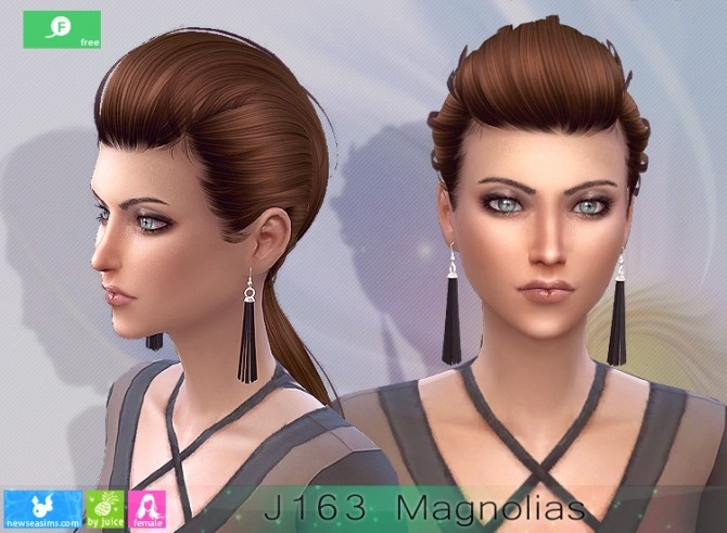 J163 Magnolias hairstyle at Newsea Sims 4 image 2583 670x491 Sims 4 Updates