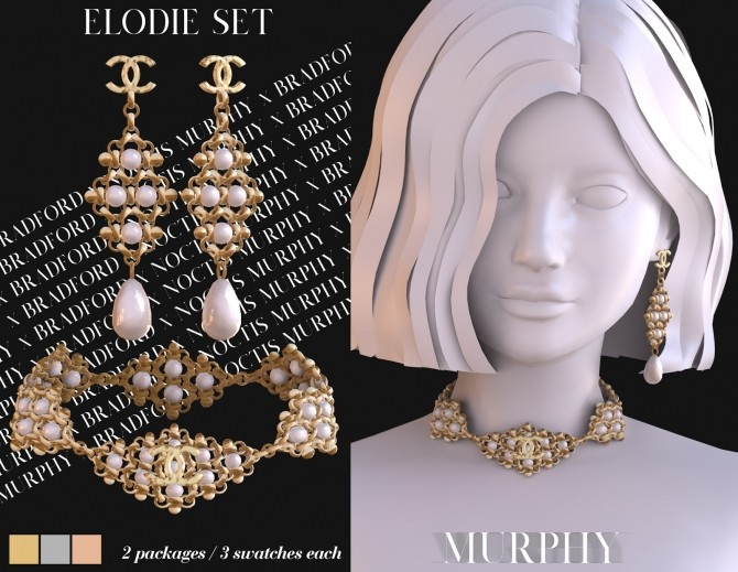 Elodie Set: earrings and choker by Silence Bradford at MURPHY image 2602 670x519 Sims 4 Updates