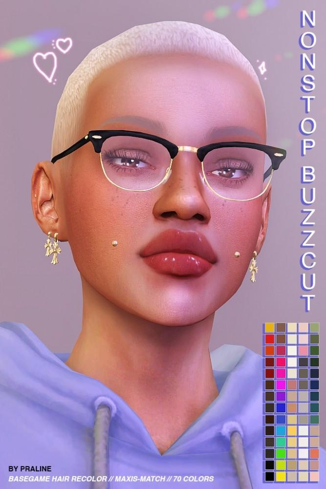 Sims 4 Nonstop buzzcut hair at Praline Sims