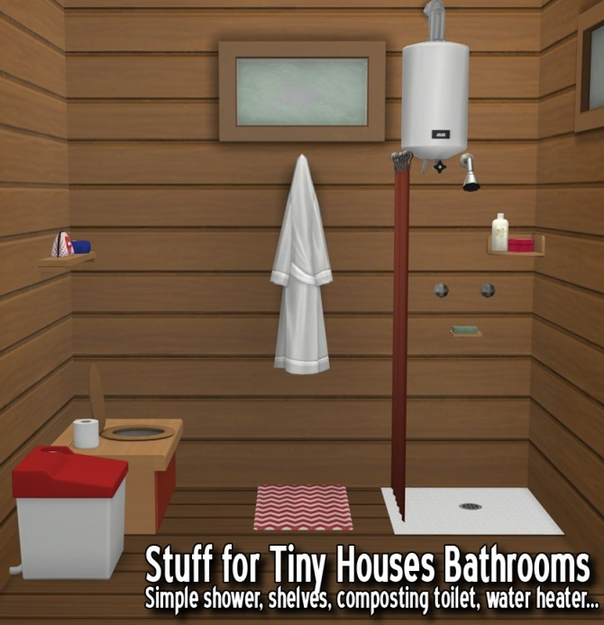 Sims 4 Bathroom for Tiny Houses at Around the Sims 4