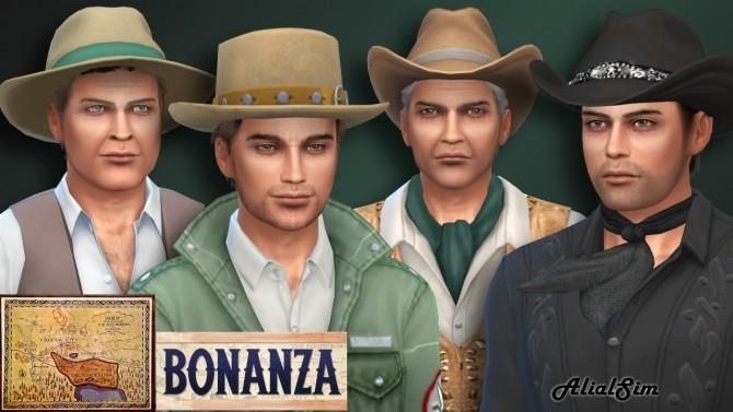 Sims 4 Bonanza Panderosa ranch and Cartwright family at Alial Sim