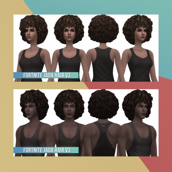Sims 4 Fortnite Conversion/Edit 3 Hairs at Busted Pixels
