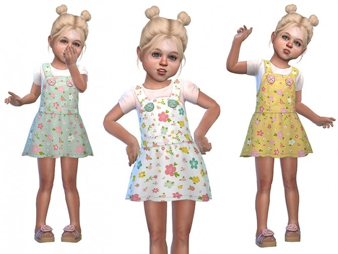 Sims 4 Pinafore for Toddler Girls 02 by Little Things at TSR