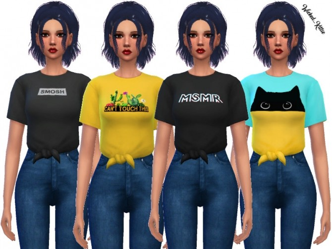 Sims 4 Caroline Shirt by Wicked Kittie at TSR