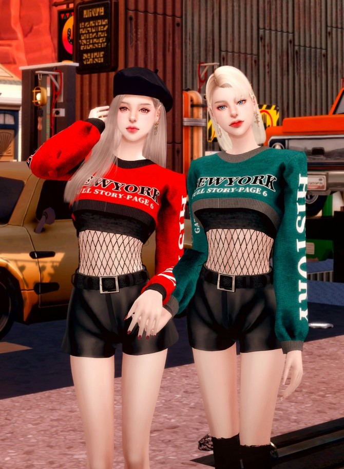 Short Knit & Leather Shorts at RIMINGs image 2671 670x913 Sims 4 Updates