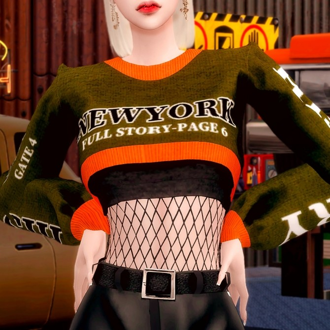Short Knit & Leather Shorts at RIMINGs image 2715 670x670 Sims 4 Updates